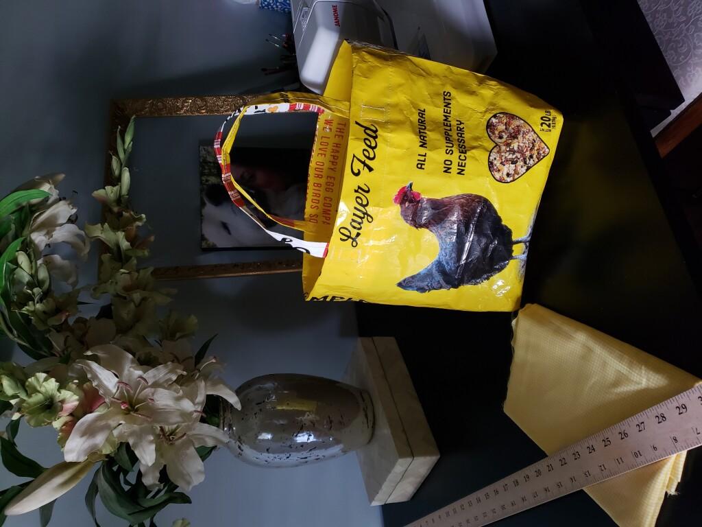 Repurposed Feed Bag